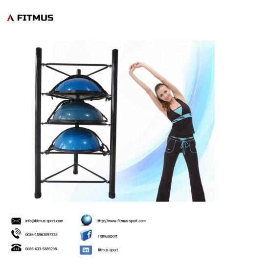 China Fitness Gym Exercise Ball Half Yoga Ball Storage Rack China