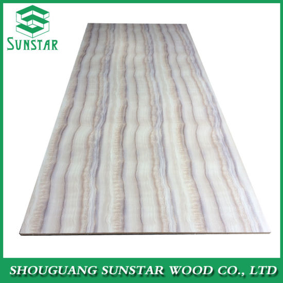 Plain UV PVC Laminated Melamine MDF E0/E1/E2 Quality Two Sided Faced Wood Grain Color for Furniture (door, bed. etc) , Laminate Flooring, Decoration