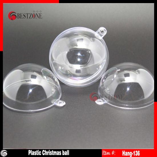 clear plastic christmas balls hanging 60 - Plastic Christmas Balls