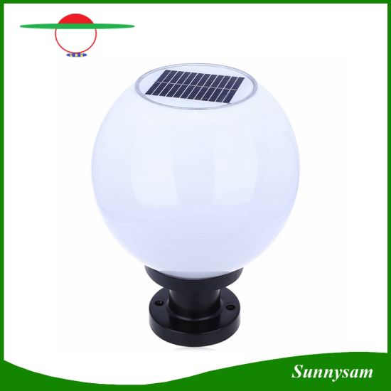 Solar Led Lights Waterproof High Brightness 200mm Ed Ball Lamp Paths Pillar Garden
