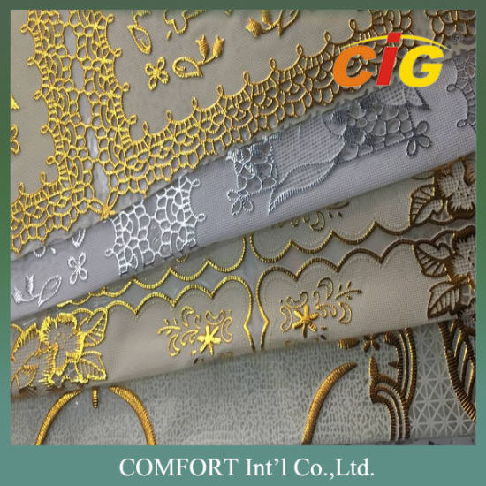 Eco - Friendly PVC Vinyl Tablecloth Plastic Lace Tablecloth Rolls / PVC Table Cover pictures & photos