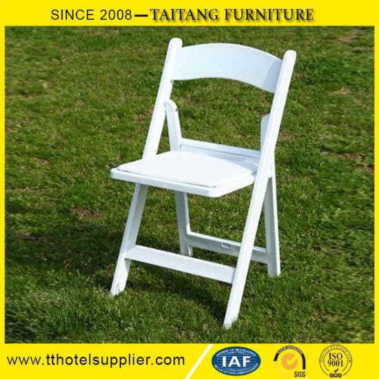 Folding Resin White Plastic Chair White Classic Design Outdoor Use Garden  Event Strong Frame
