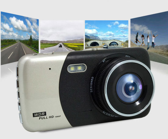 "4"" IPS HD Screen Dual Lens Car Driving Recorder pictures & photos"