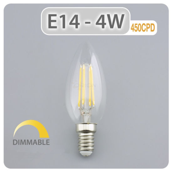4W LED Light Candle Lamp Vintage Glass Edison Style E14 220V LED Decoration Bulb for Home pictures & photos