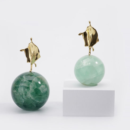 Green Stone Creative Modern Simple Light Luxury Living Room and Study Home Decoration