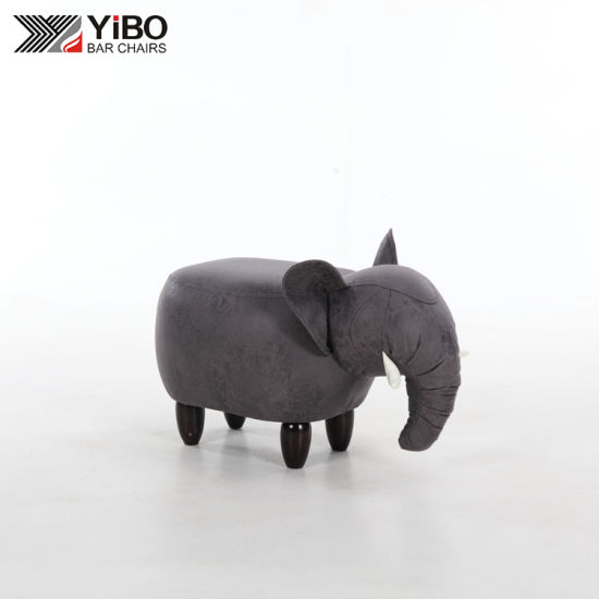 Elephant Storage Ottoman Cute and Adorable Animal Stool for Kids
