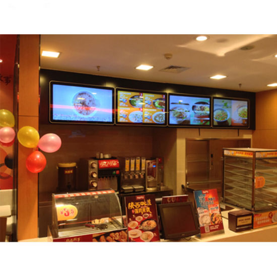 Super Silm Indoor Advertising Player Digital Touch Screen Panel pictures & photos
