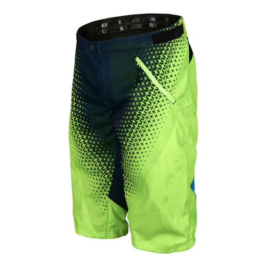 Flo Yellow Sprint Short Starburst Customizable Mx/MTB Shorts (ASP09)