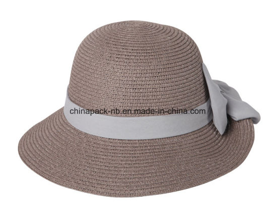 China Ladies Crushable Summer Straw Bucket Hat - China Women Hats ... 1792fc222ef