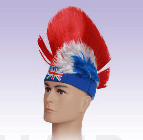 Colorful World Cup Wig/ Soccer Wig/ Fans Wig