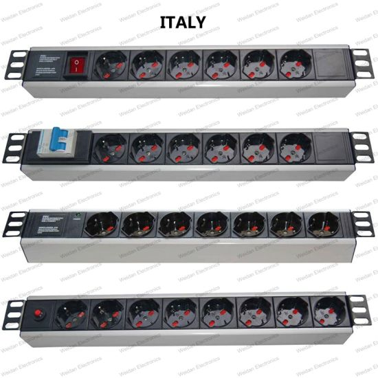 19 Inch Italy Type Universal Socket Network Cabinet and Rack PDU pictures & photos