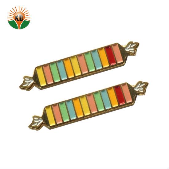 Custom Ribbon Logo Enamel Organization Metal Pin Badge