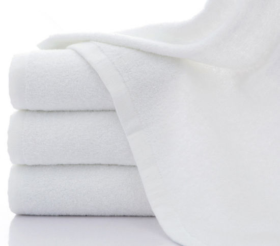 70X140 White 32s Cotton 450g Bath-Towel pictures & photos