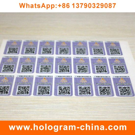 3D Laser Custom Hologram Stickers with Qr Code Printing pictures & photos