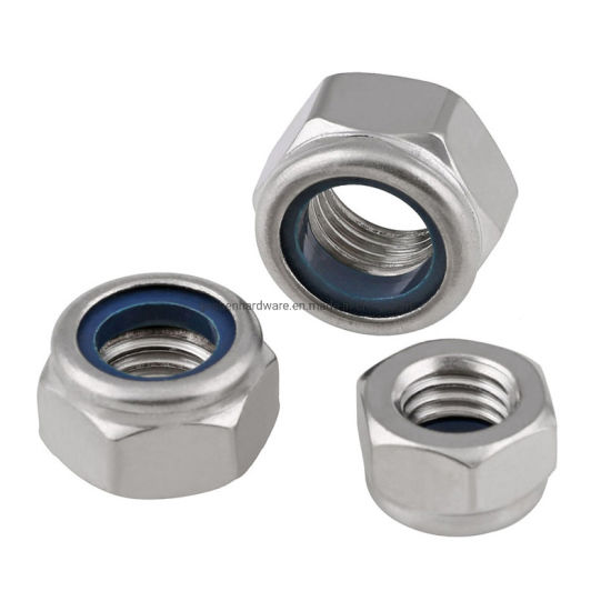 A2-70 Prevailing Torque Type Hexagon Nuts with Non-Metallic Insert
