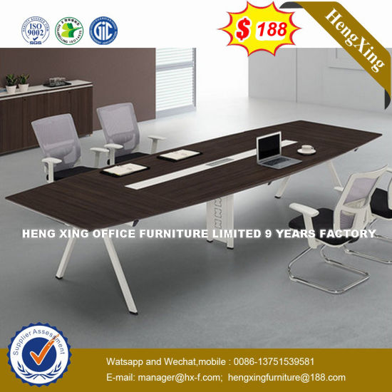 Beauty Salon Wooden Small Round Conference Table (HX-NCD403) pictures & photos