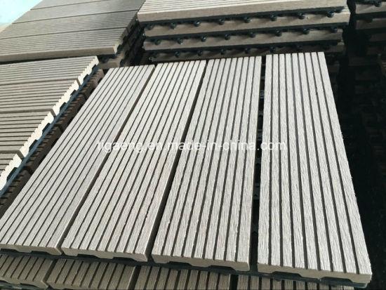 China Outdoor Interlocking Wpc Diy Deck Tilessports Rubber Wood