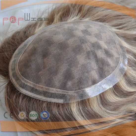 Indian Light Color Mens Toupee (PPG-l-0102) pictures & photos