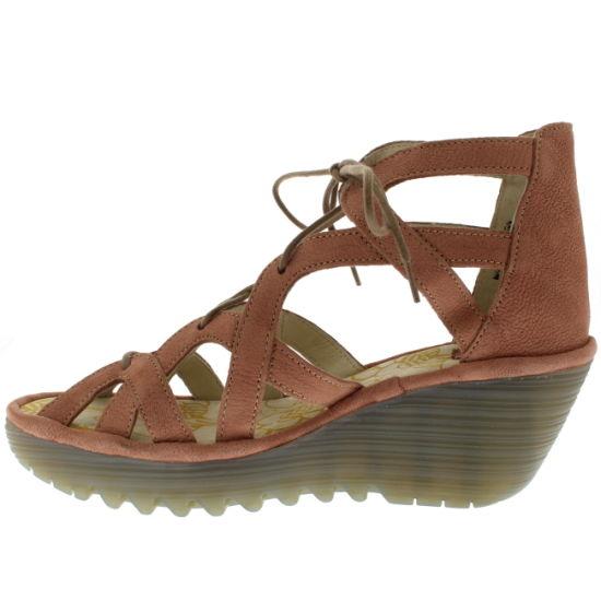 6f07b42b02c China Womens Open Toe Hollow High Wedge Platform Gladiators Sandals ...