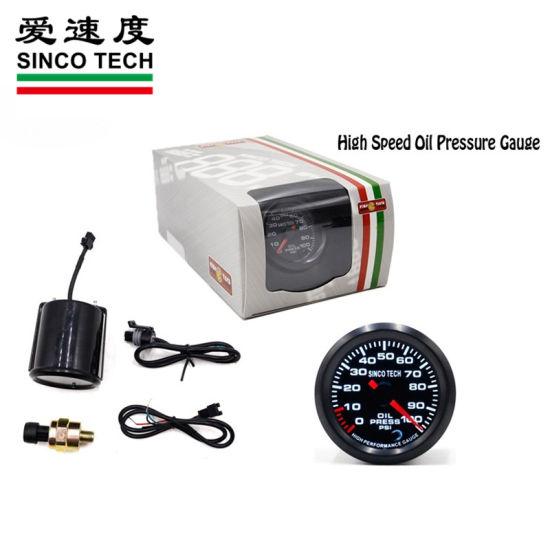 """2/"""" 52mm Digital /& Pointer 7 Color LED 0-100 Psi Oil Pressure Gauge Meter Sensor"""