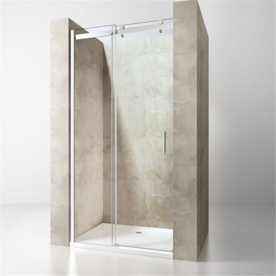 Luxury Walk-in Stainless Steel Home Use Tempered Glass Simple Shower Rooms Design