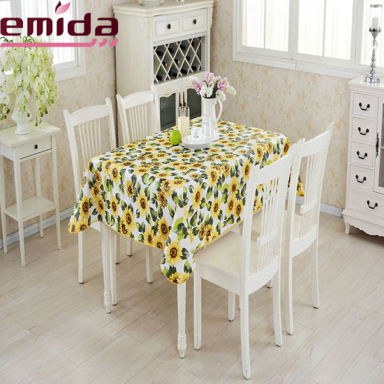 f39d7cb018a Hot Sale Waterproof and Oil Resistant and Durable Geometric Pattern Printed PVC  Plastic Tablecloth
