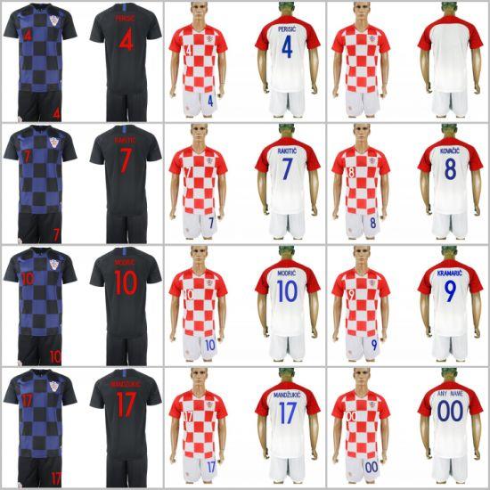 China 2018 World Cup Football Croatia Soccer Jersey Shorts - China ... 25ae05894