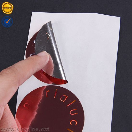 Customized Size Clear Label Stickers Printing Private Logo Printing With Glossy Laminated
