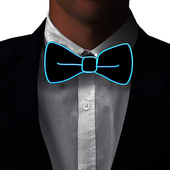 45247e68d570 Men Fixinus LED Light Up Bow Tie Perfect for Christmas Halloween New Years  Music Festival Rave Party