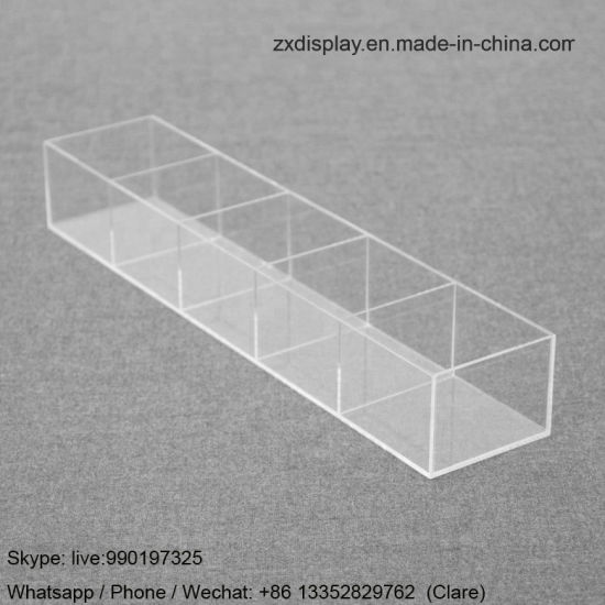 5 Slots Clear Storage Display Acrylic Glass Tray pictures & photos