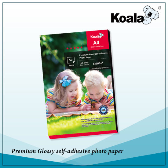 Premium Waterproof Inkjet Sticker Photo Paper, 115g Glossy Adhesive Photo Paper pictures & photos