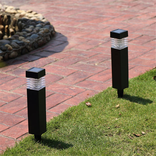 Plastic Square Stake Solar Lights Outdoor