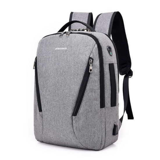 2018 Leisure Travel Business Computer Bag Anti Theft Laptop Backpack USB Charging Bags pictures & photos