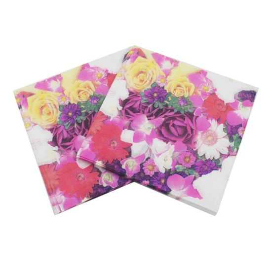Disposable Custom Printed Paper Dinner Napkin with Logo pictures & photos