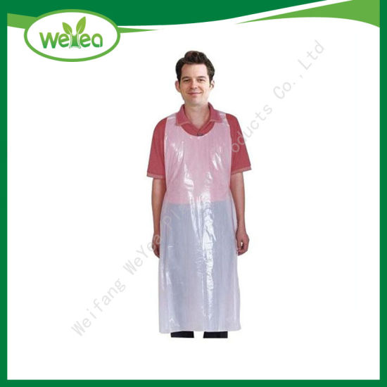 Disposable White Plastic Poly Apron Packed with TUV Sud Certificate