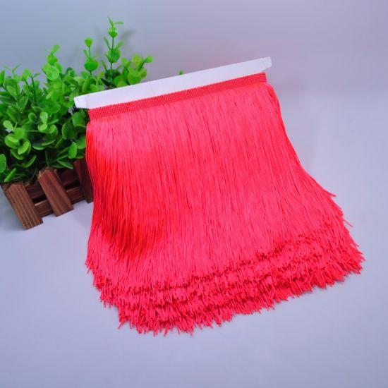 High Quality 15cm Polyester Silk Fringe Tassel for Dress
