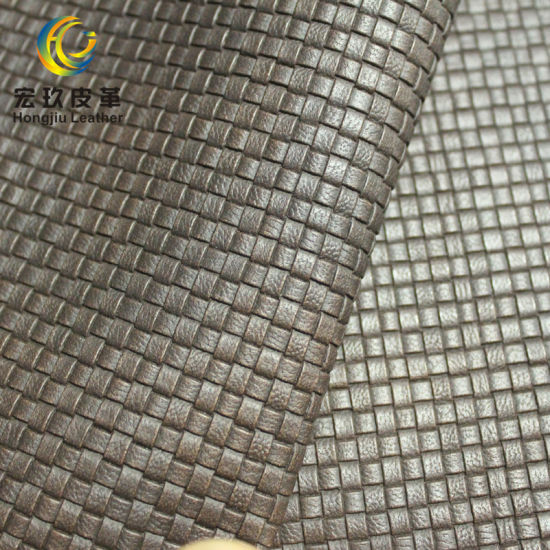 Weave Pattern PVC Decorative Leather for Decoration