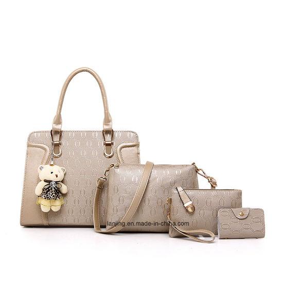 Handbags 2018 Women Bags 4 PCS Sets Fashion Bags Ladies Handbag Wholesale  Factory Bags with Little Bear Pendant. Get Latest Price 9bdb8b425146f