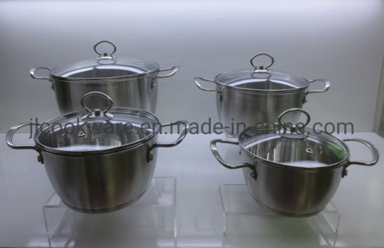 8PCS Cone Shape Stainless Steel Handle Top Quality Cookware Set