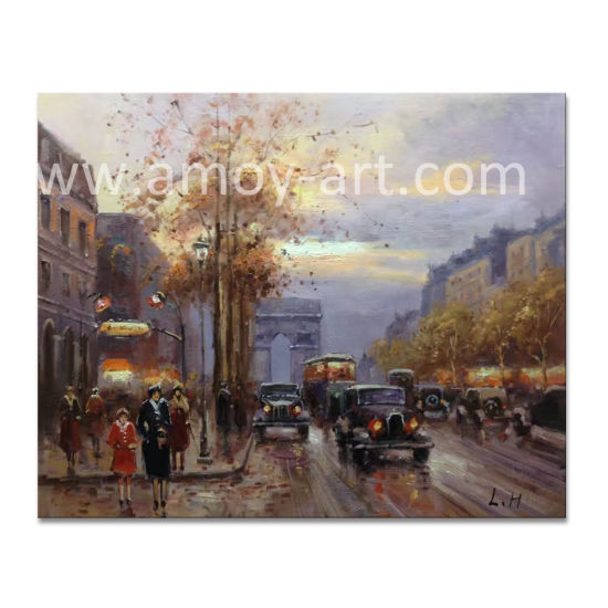 China European City Street Scenes Canvas Wall Art Oil Painting For Home Decor China Canvas Oil Paintings And Handmade Oil Painting Price