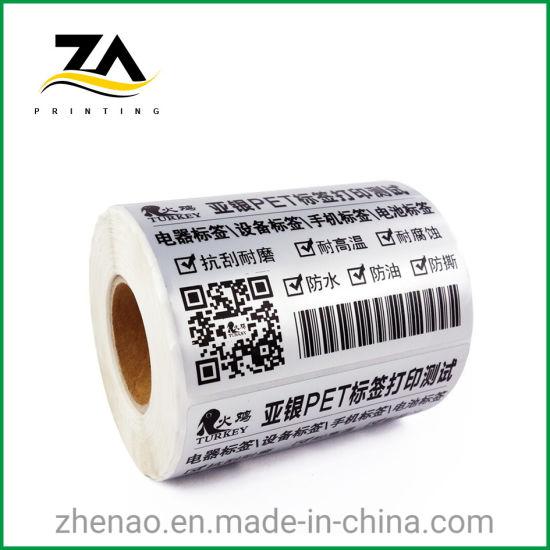 Pet Printed Sticker Service Transfer Thermal Barcode Printer Label