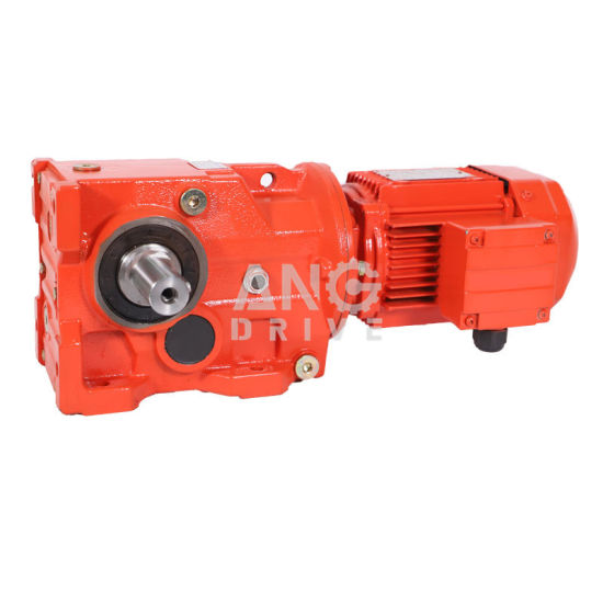 K Series 90 Degree Right Angle Bevel/Miter Gearing Arrangement Electric Motor with Reduction Gear