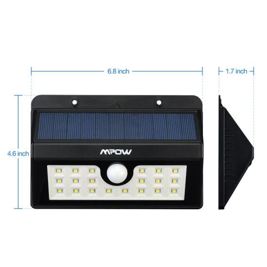 20LED MPOW Solar Power Lights Solar Sensor Motion Light Outdoor Waterproof Lamp