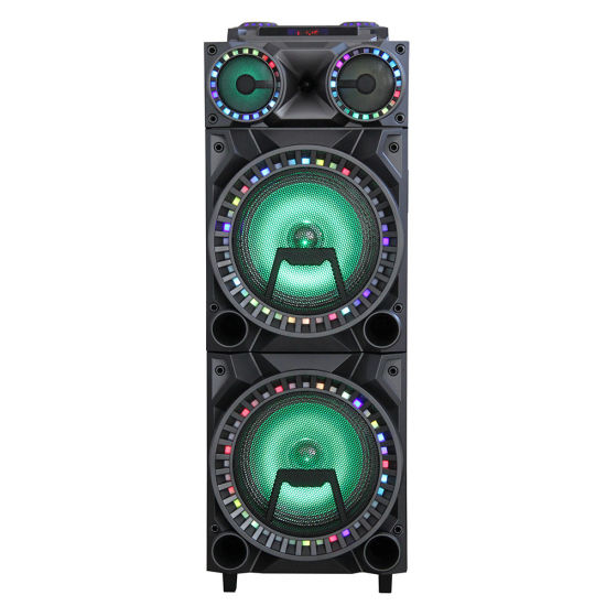 Wooden Double 12 Inch Party DJ LED Light Bluetooth Speaker