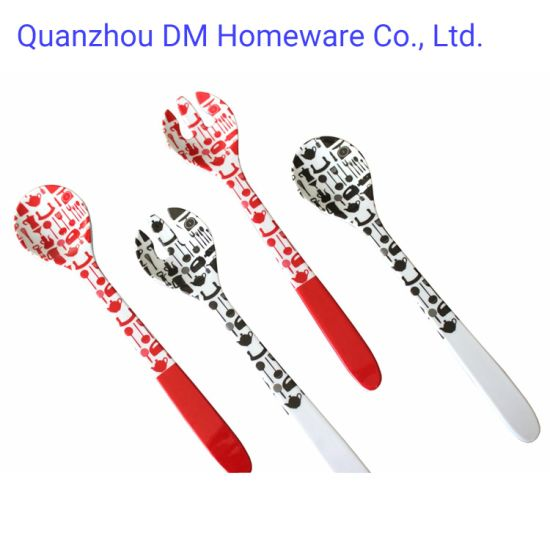 Customized Plastic Melamine Salad Spoon and Fork Kitchen Tools for Home Restaurant Picnic Camping