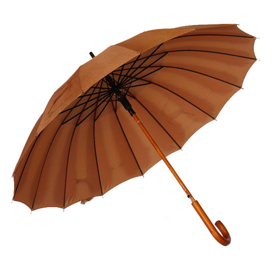 46 Inch Auto Open Straight Strong Durable Umbrella, 190t Fiber Waterproof Sport Umbrella 16 Ribs (YZ-19-16)