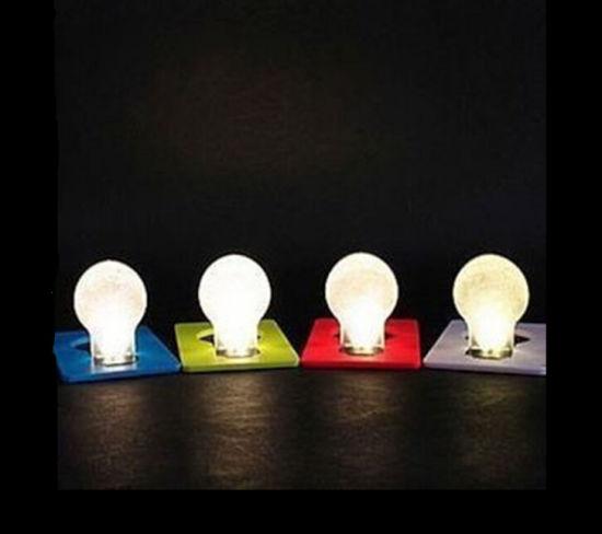 Pocket Wallet Exquisite LED Light Bulb Card