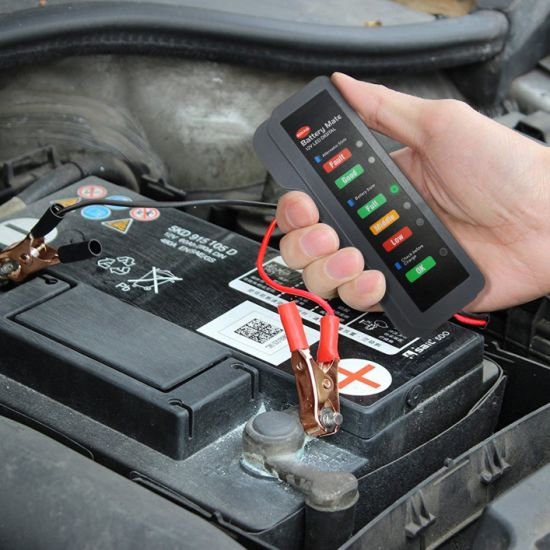 Car Digital Battery Tester Bm310 Auto Checker Alternator 12V 6LED Lights Display for Car Vehicle Motorcycle