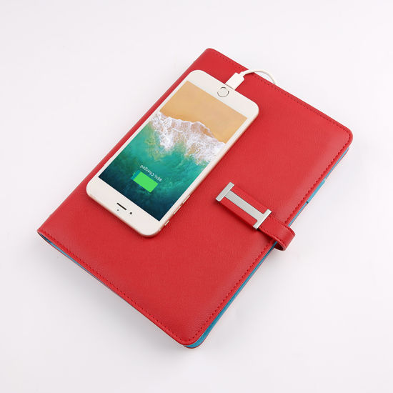 Spiral Notebook with Built-in Power Bank and Flash Drive