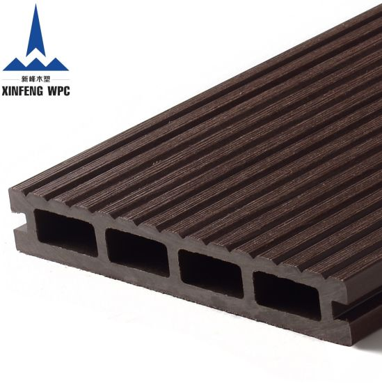 High Strength Co-Extrusion Wood Plastic Composite WPC Decking Board